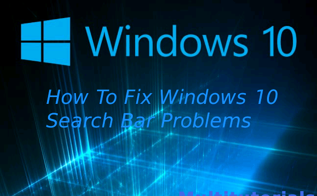 Search Bar Not Working or Displaying Results in Windows 10? Here's how to fix it.