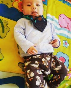 This one is wearing his gorgeous lambandbearwear quack quack leggingshellip