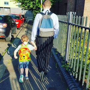 My boys on the way to nursery yesterday I washellip