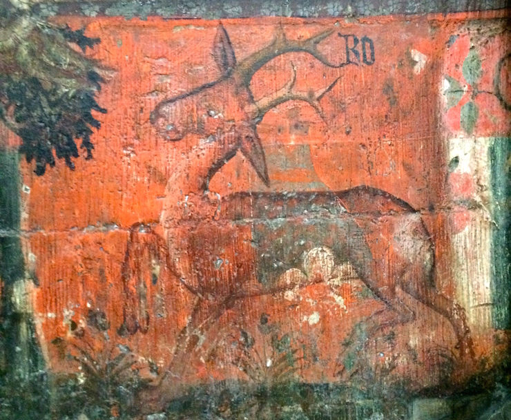 Wall painting, Chapter House, Westminster Abbey. Image copyright Gretta Schifano