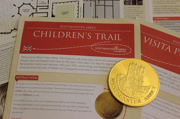 Westminster Abbey Children's Trail. Copright Gretta Schifano