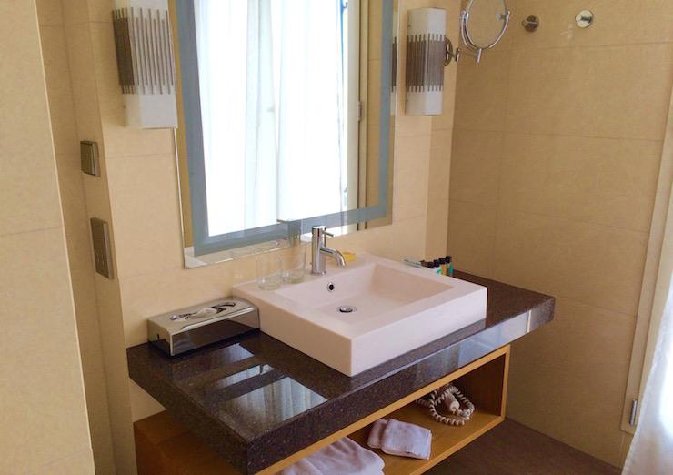 Bathroom at Dubrovnik Sun Gardens. Copyright Gretta Schifano