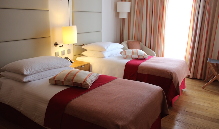 Twin room at Dubrovnik Sun Gardens. Copyright Gretta Schifano