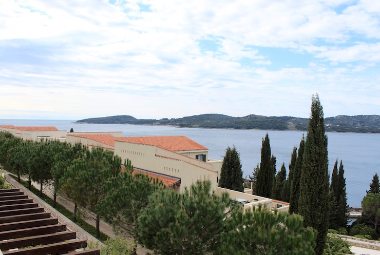 View from terrace, Dubrovnik Sun Gardens. Copyright Gretta Schifano
