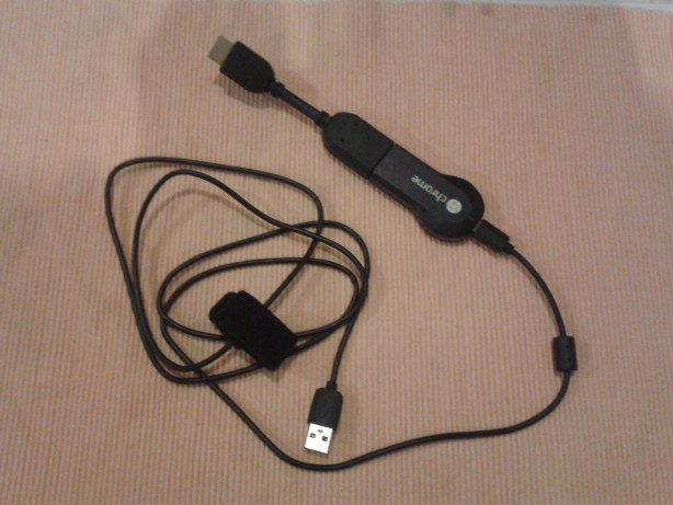 USB Power Cable joined to Google Chromecast Dongle