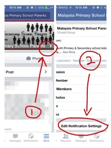 How To Edit Notifications For A FB Group Using The FB App On Smartphone Or Mobile