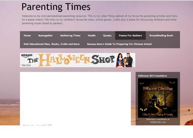 Screenshot of Parenting Times (Purple)
