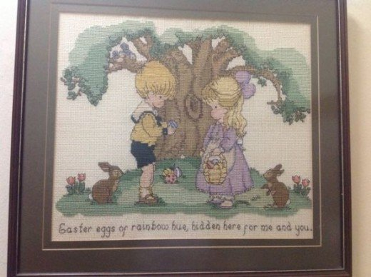 Cross Stitch Easter Boy and Girl