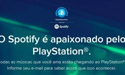 Pagina da Spotify em parceria com PlayStation (Imagem: Reprodução)