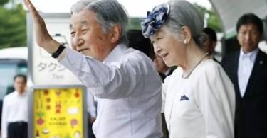 Mesmo com a saúde debilitada, o imperador Akihito, junto com a imperatriz Michiko, visitou Yamagata recentemente (Foto: Kyodo)