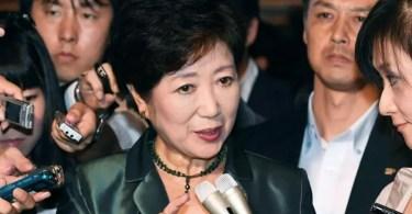 Yuriko Koike anunciou seu plano ousado na sexta-feira (Foto: Kyodo)