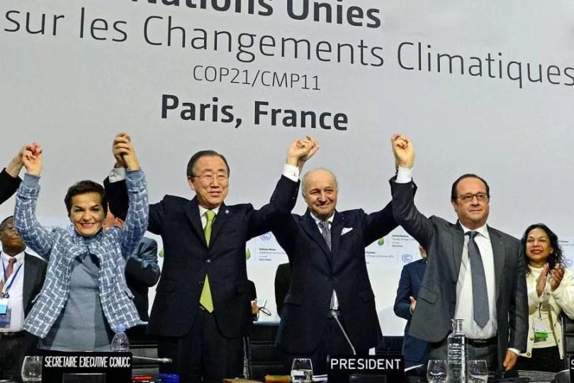 Acordo de Paris foi assinado por 195 nações em dezembro de 2015 (Foto: Distribuição/UNFCCC)