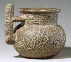 Jarra Maya, utilizada para beber del siglo l, encontrada en Kaminal Juyu, foto por odisea2008.com