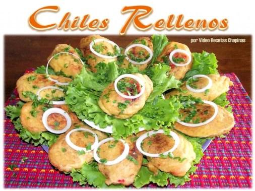 Chiles Rellenos - foto por Video Recetas Chapinas