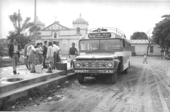 Recuerdos - El parque de Amatitlán alrededor de 1960 - foto enviada por Marvin Sacarias de la Eni