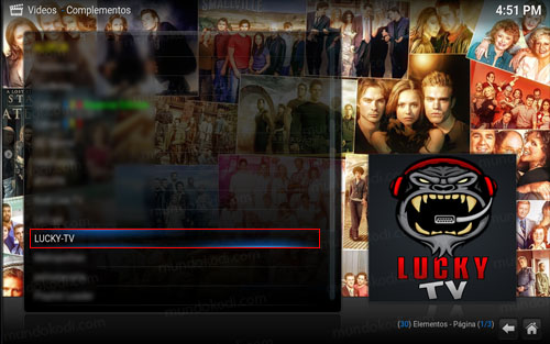 4 addon lucky tv en kodi -lucky-tv