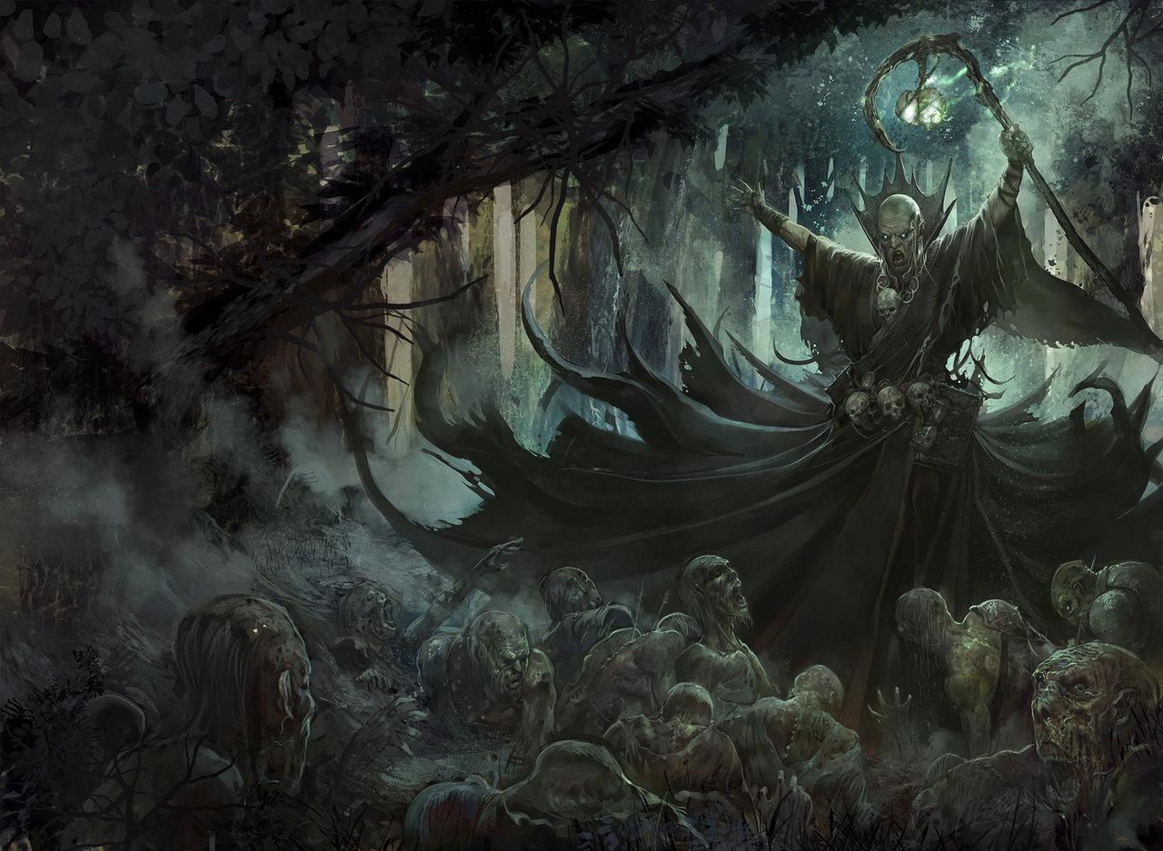 Blighted_empire_warhammer_by_faroldjo-d69gwna_Nigromante_No_Muertos ¿Qué es la Nigromancia?