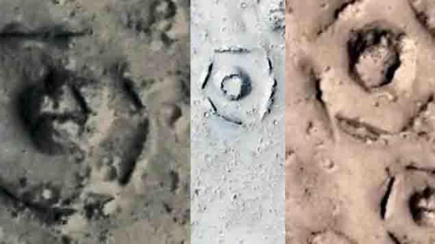 La NASA encuentra restos de Ciudad extraterrestre Marte