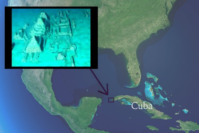 map-of-north-america-with-added-screenshot-from-youtube-and-added-text-shutterstock_7723654-webonly ¿QUE PASO CON LA CIUDAD SUMERGIDA EN CUBA?
