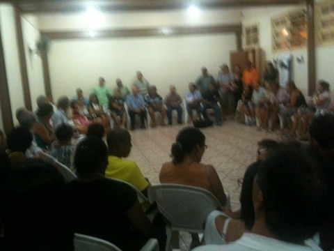 Summary and Analysis of the Rocinha Sem Fronteiras meeting on 9/21/2013