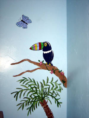 Tucan -Jungle Mural