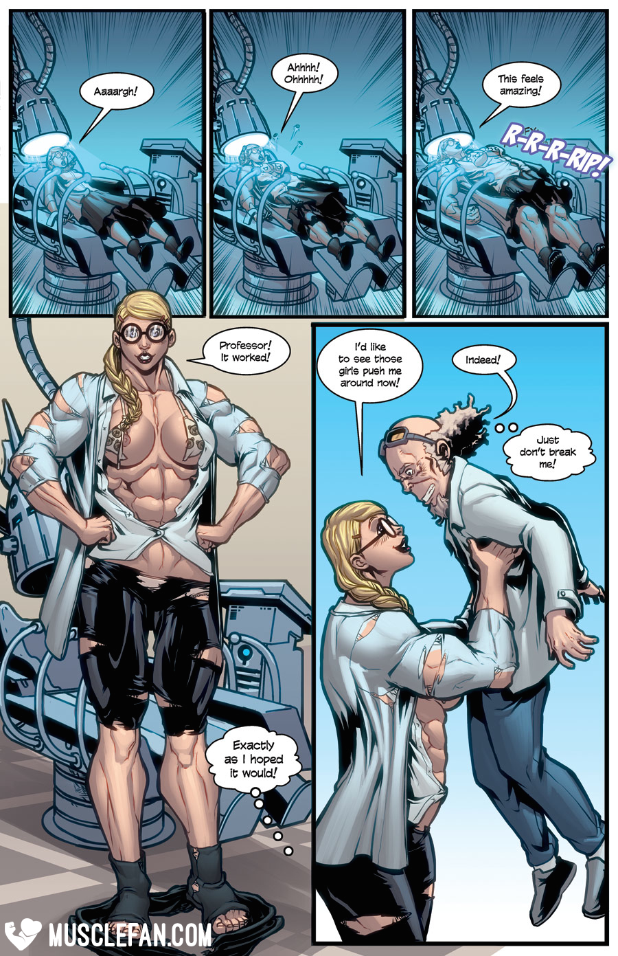 muscle girl comics