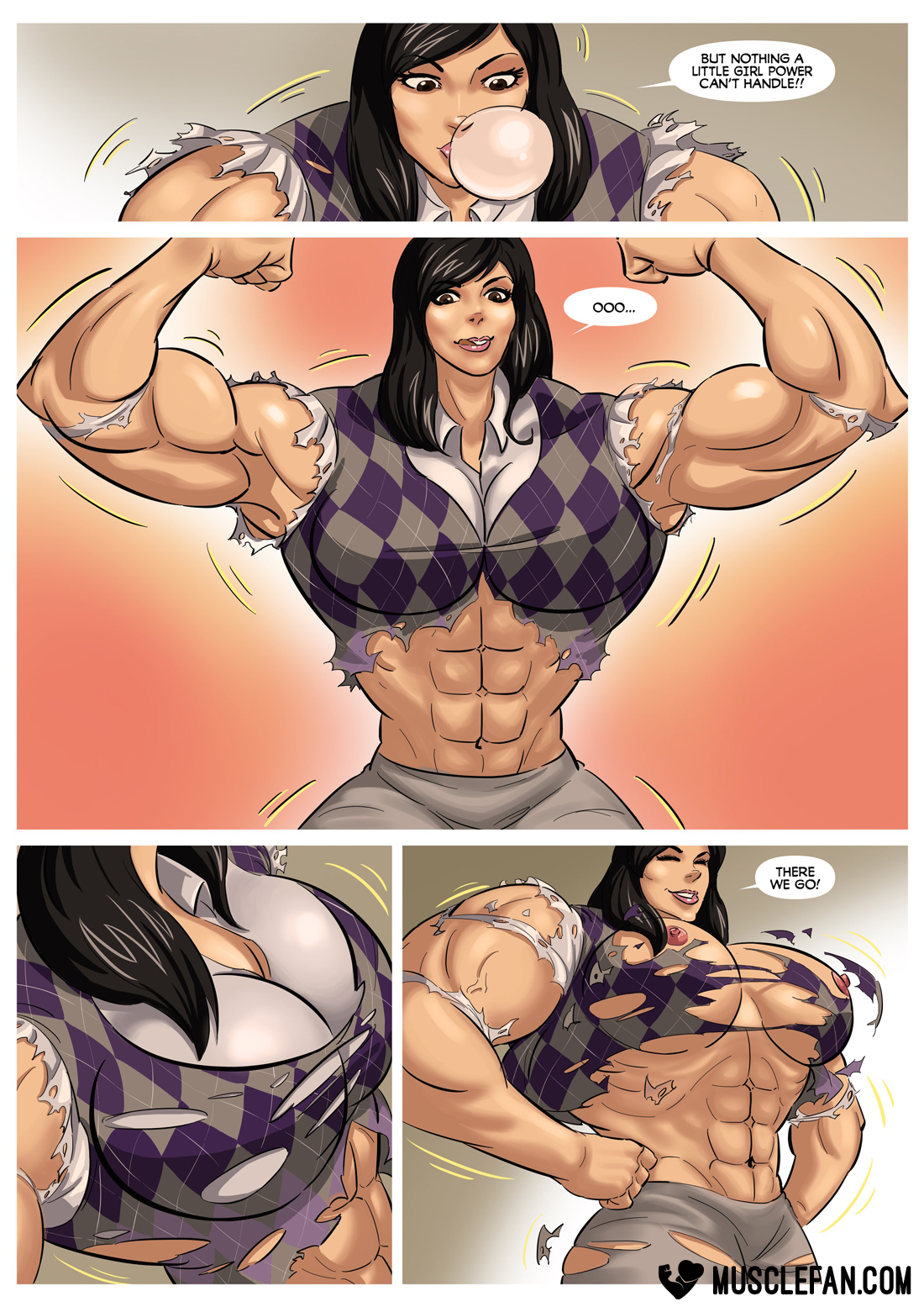 muscle theft female growth