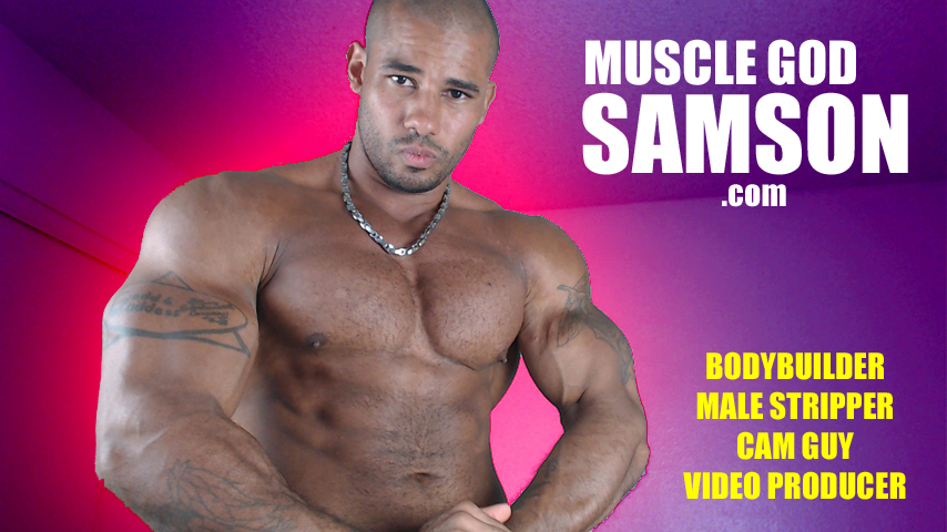 muscle god samson king of flexing