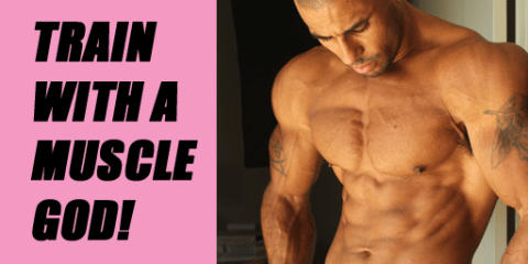train with a muscle god