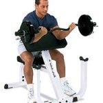 Ejercicio de banco con antebrazos apoyados para desarrollar los bíceps