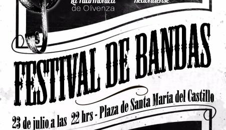 "Museo Etnográfico. ""González Santana"". Olivenza. Extremadura. Festival. Cartel Concierto Festival de Bandas. 23-07-16"
