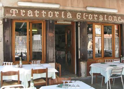 Via Garibaldi, Venice. There isn't much left of working Venice but what there is, is around Via Garibaldi. This is a local restaurant with a great reputation.