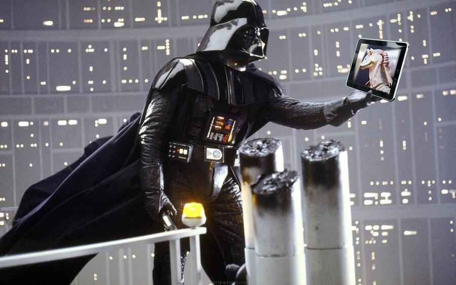 """Amazon Bookstores – Darth Vader at an Ewok christening"""