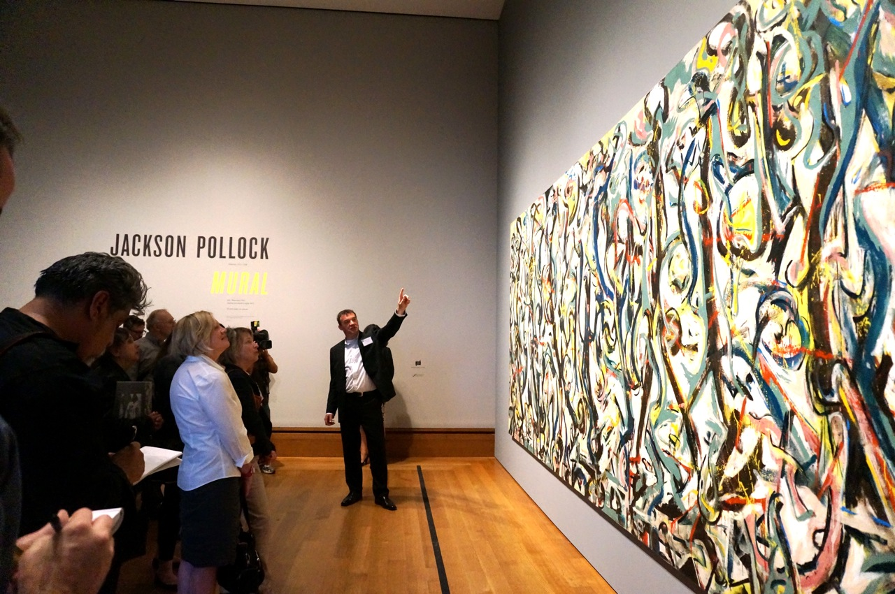 Museum stories 6 reasons to see jackson pollock s mural for Mural jackson pollock