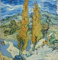 Van Gogh, The Poplars at Saint-Rémy, 1989