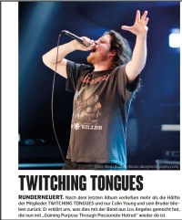 Twitching Tongues, Fuze Magazin 69 APR/MAI 18, http://fuze-magazine.de