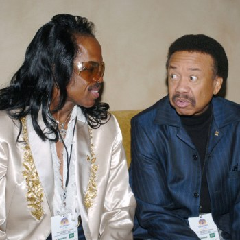 Verdine White (left) and Maurice White in 2005.
