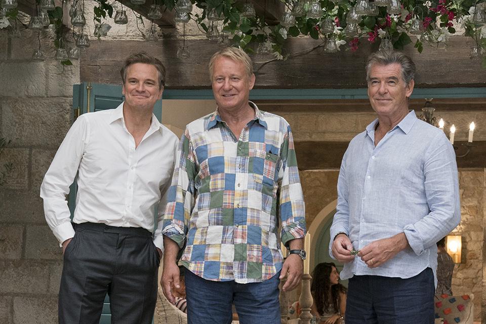 Colin Firth (Harry), Stellan Skarsgård (Bill) a Pierce Brosnan (Sam) Mamma Mia! Here We Go Again