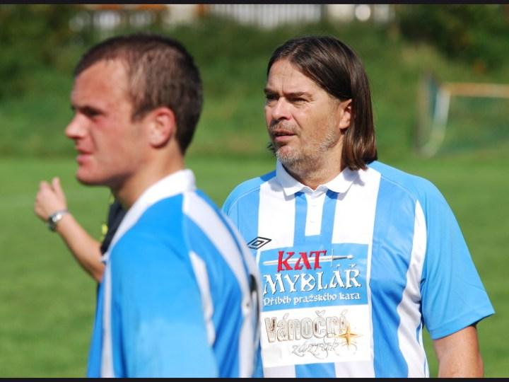 Ve fotbalovém dresu nemohl chybět producent Oldřich Lichtenberg