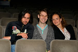SKUTR (Martin Kukučka, Lukáš Trpišovský) a choreografka Adéla Stodolová Laštovková