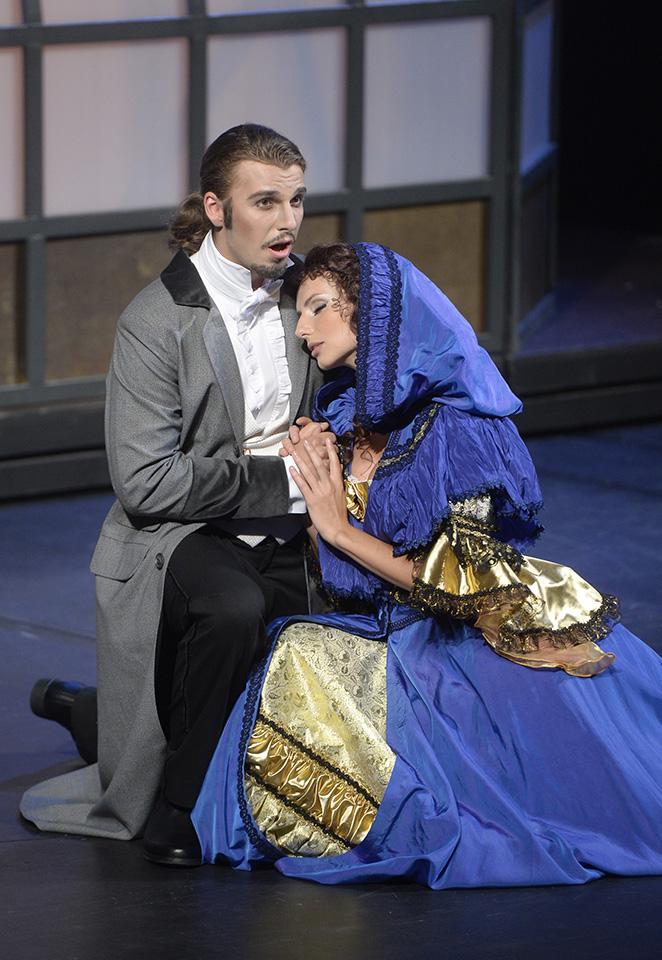 Michal Bragagnolo jako Raoul ve Fantomi opery