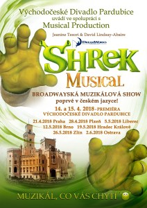 Plakát muzikálu Shrek