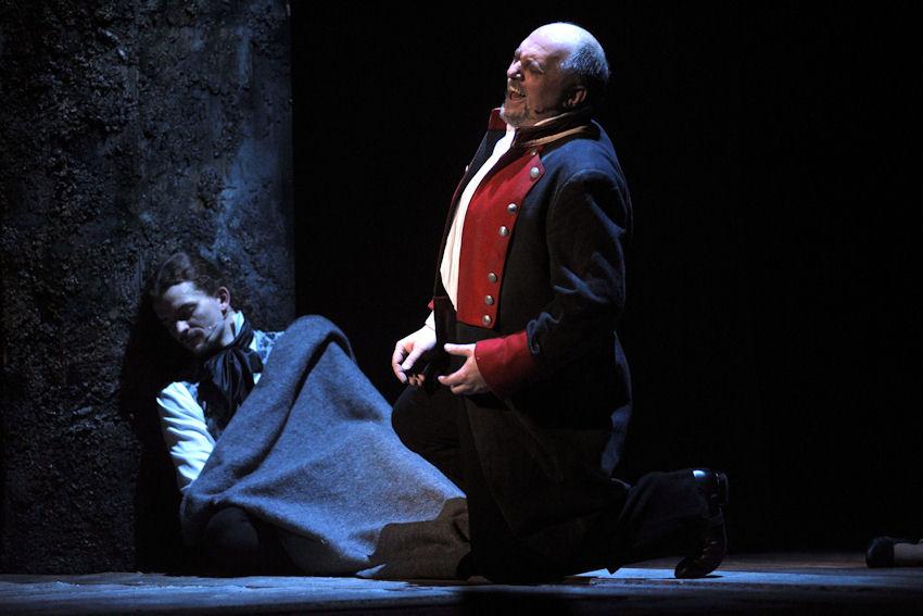 Jan Ježek jako Valjean v brněnském nastudování Bídníků