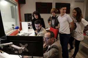 Vista del estudio de grabación durante los trabajos de Musicalizatech