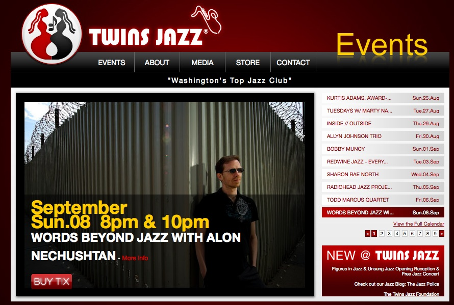 8th September 2013 Twins Jazz Alon Nechushtan Trio