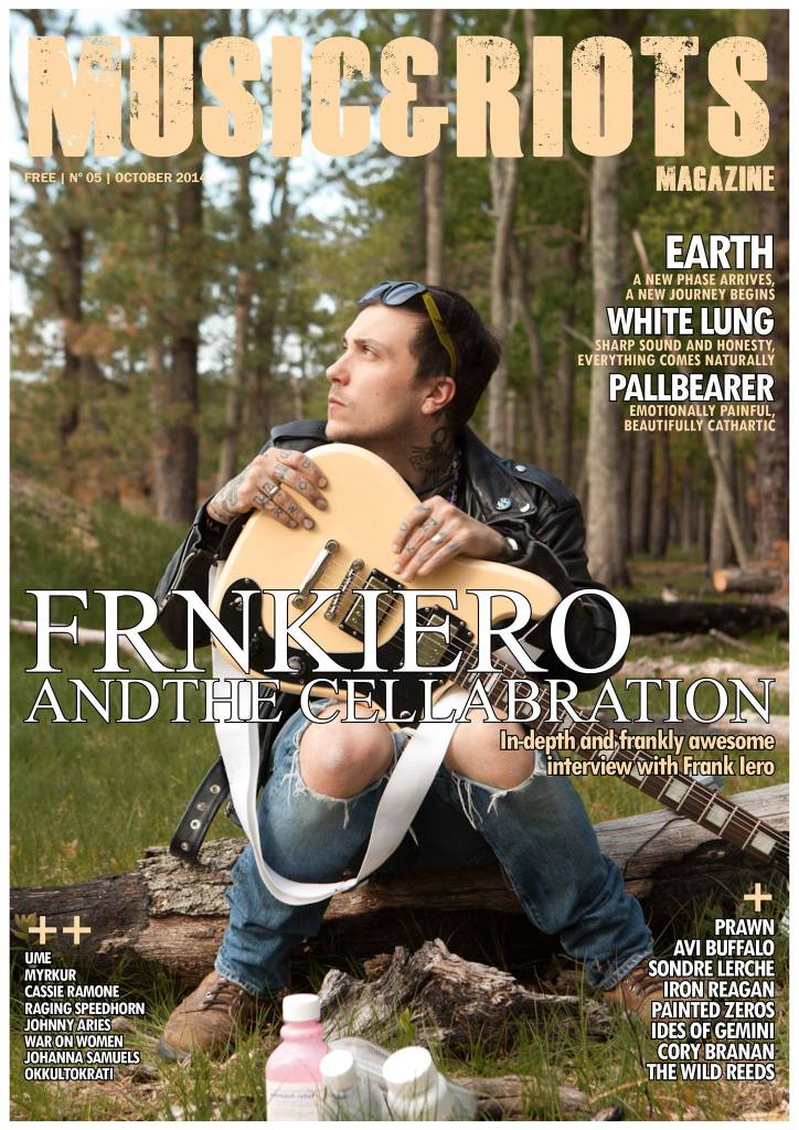 ISSUE 5 Featuring: Frnkiero Andthe Cellabration, Earth, Ume, Ides of Gemini, White Lung, Avi Buffalo, The Wild Reeds, Johnny Aries, Kenneth Bachor, Cassie Ramone, Iron Reagan, Sondre Lerche, Prawn, Raging Speedhorn, Painted Zeros, Johanna Samuels, Myrkur, Cory Branan, Pallbearer, Okkultokrati, Mono