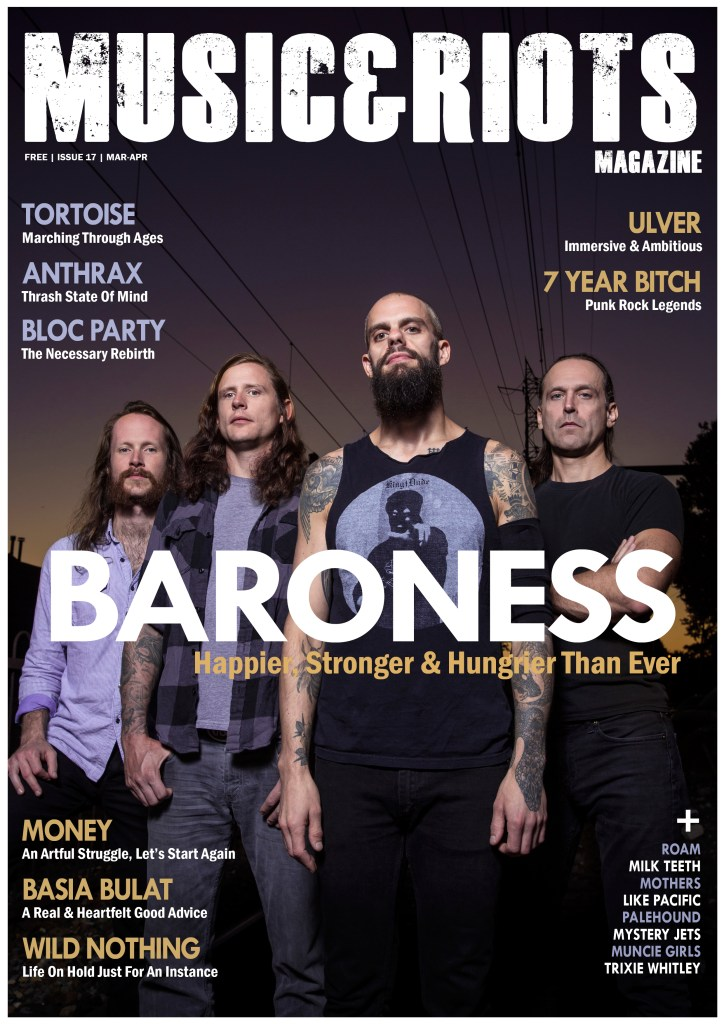 Featuring: Baroness, Anthrax, Tortoise, Ulver, 7 Year Bitch, Bloc Party, Money, Basia Bulat, Wild Nothing, Roam, Milk Teeth, Muncie Girls, Like Pacific, Trixie Whitley, Mystery Jets, Ulver, Deafheaven, Love (Season 1), Deadpool, David Bowie, Architects, Nothing, Garbage, Kristin Kontrol, Mothers, Candace, Estrons, Wall, Minority Threat and much more...