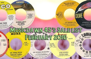 Musicdawn February 2016 Salelist