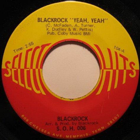 Blackrock - Yeah, Yeah (Select-O-Hits) 45 Label