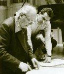 Bernhard Klee mit Oliver Messiaen